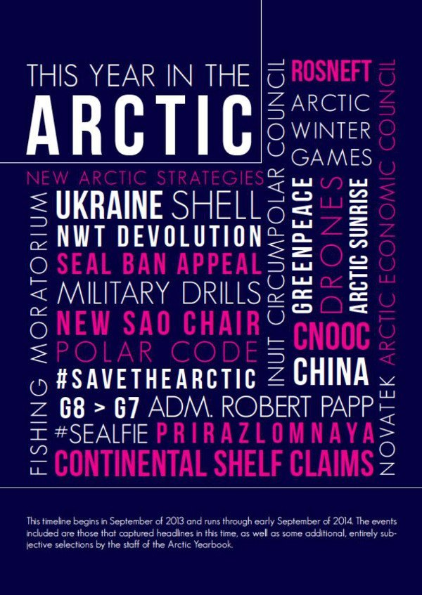 Arctic Yearbook 2014 timeline page 1